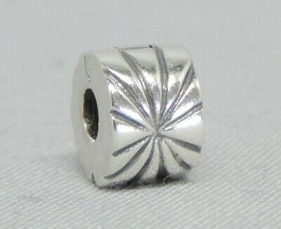 Authentic Pandora Sunburst Clip/Charm/Bead Silver 925 ALE 790210