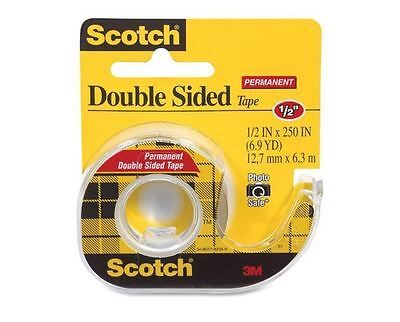 Scotch Double-Sided Tape, 1/2 In X 250 Inches, Clear 1 ea (Pack of (3m 1 4 Inch Double Sided Tape)