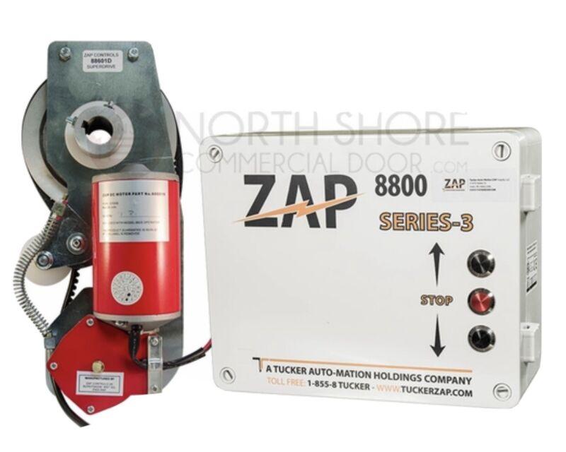 ZAP 8825 Jackshaft Sectional Commercial Garage Door Opener Operator And Controls