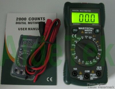Ms8233b 19-range Tester Multimeter Hold Diode Buzz Ac Dc Non-contact Backlight