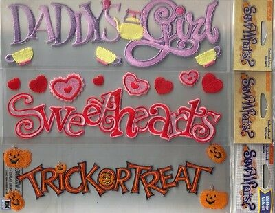 Embroidered 3 D Stickers - *SEW WHATS* Sticko 3D EMBROIDERED Stickers Your Choice PAGE TOPPER TITLE Variety