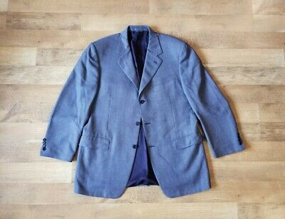 CANALI size 44 R sport coat blue blazer made in Italy