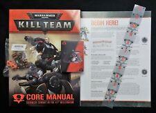 Warhammer 40k 9th Edition ELITE Manual Playmat Dice Ruler Rulebook