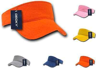 Golf Terry Visor - Decky Golf Tennis Walking Visor Sports Summer Sun Terry Cloth Snug Fit Unisex