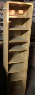 Swivel self standing shelving unit with mirror