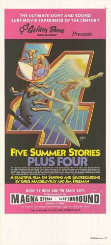 SKATEBOARDING/SURFING orig 1972 movie poster GERRY LOPEZ/SAM HAWK/EDDIE AIKAU