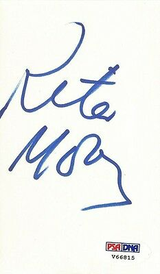 Rita Moreno Signed Index Card PSA/DNA COA West Side Story Oz Electric Company