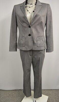 Comma Hosenanzug 36 38 Blazer Hose mit Stretch schwarz grauweiß w.Neu