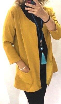 3 Tasche Blazer (Giacca Donna Blazer Senape giallo Tasche Manicha 3/4 abbigliamento Ada Klementi )