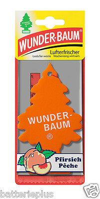 3X Original WUNDERBAUM®  PFIRSICH  Lufterfrischer Duftbäumchen Autoduft