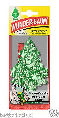 5X Original WUNDERBAUM®  EVERFRESH Lufterfrischer Duftbäumchen Autoduft