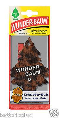 3X Original WUNDERBAUM® ECHT LEDER Lufterfrischer Duftbäumchen Autoduft