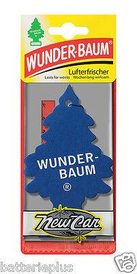 3X Original WUNDERBAUM®  NEW CAR  Lufterfrischer Duftbäumchen Autoduft