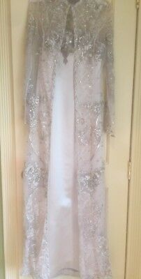 Reem Acra New York Women S Champagne Beaded Gown 2 Piece Size 6
