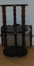 victorian style dark oak colour plant stand / cake stand