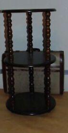 victorian style dark oak colour plant stand / cake stand
