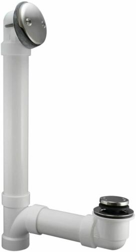 Keeney K630PVCDSBN Foot Lok Stop Bathtub Drain Kit, 1-1/2-Inch   Brushed Nickel