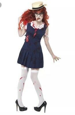 Halloween Costumes College Students (Smiffys Zombie College Student Halloween Fancy Dress Medium)