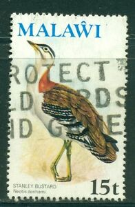 MALAWI-Sc239-SG479-Used-1975-15t-Bird-Barrows-Bustard-Wmk-Cockerels-SCV-5