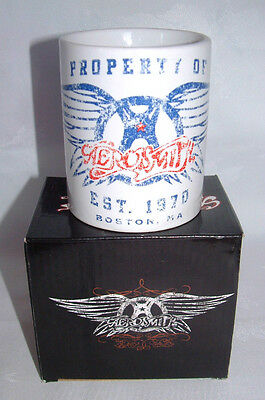 AEROSMITH - EST 1970 BOSTON MA - COFFEE MUG - OFFICIAL MERCHANDISE- NEW & BOXED