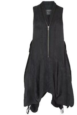 All Saints Zeeda Dress Zip Doctor Who River Song Black Asymmetrical 8 UK 12