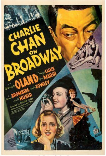 Charlie Chan on Broadway Original Vintage Movie Poster One Sheet Warner Oland