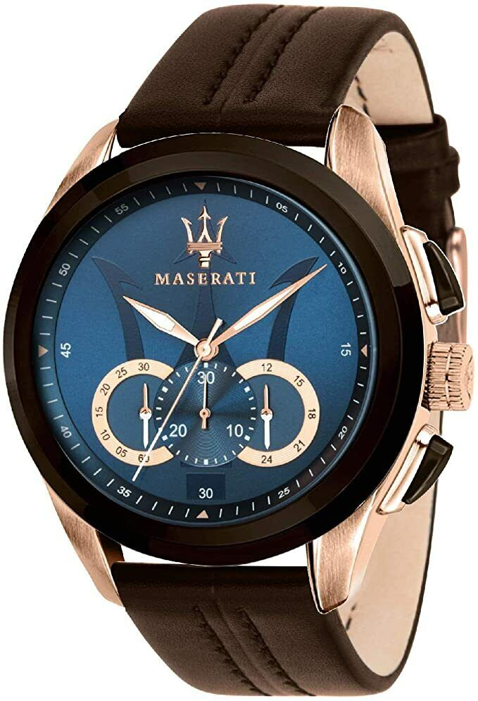 men s r8871612024 traguardo chronograph blue dial