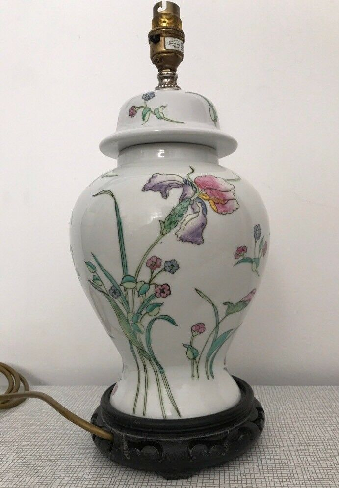 Ginger Jar Style Pottery Table Lamp