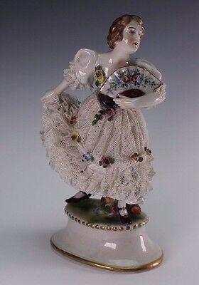 7 Figurine Fan (Porcelain Dresden Lace 7