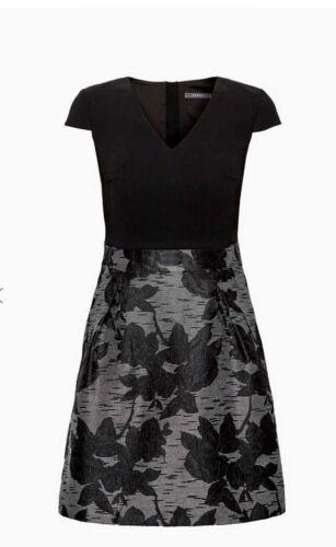 Esprit Damen Kleid Festlich mit edlem Jacquard-Rock Gr 40