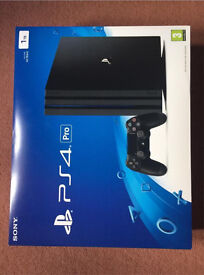 PlayStation 4 Pro PS4 Black Excellent Condition