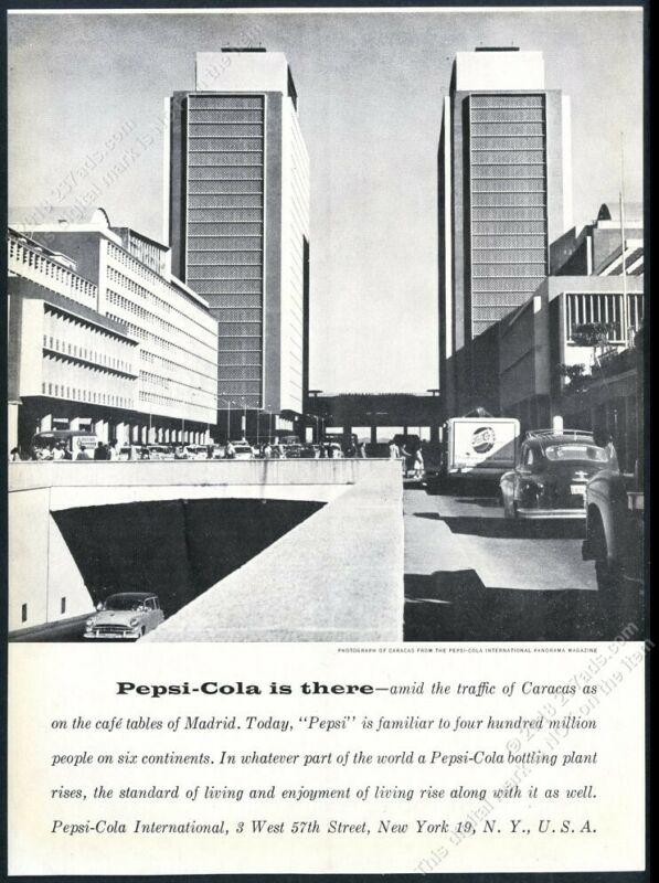 1957 Pepsi Cola Caracas Venezuela photo unusual European vintage print ad