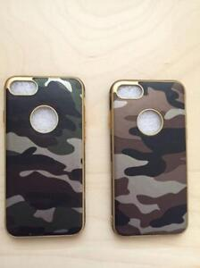 IPhone 7 Camo Case with Gold Trim Slim - Free Shipping