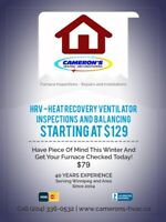 Furnace Inspections and Repairs - HRV Repairs and Installations