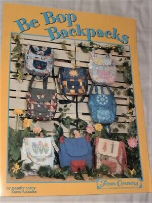 BE BOP BACKPACKS--BACKPACK PATTERN BOOKLET for sale  Shipping to India