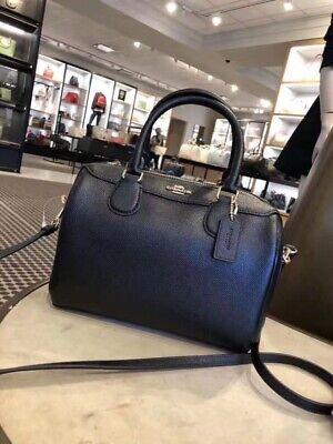 NWT Coach F32202 Mini Bennett Satchel Handbag Crossbody Purse Leather Black $295