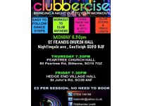 Clubbercise party fitness class