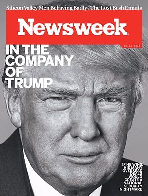 DONALD TRUMP - IN THE COMPANY OF TRUMP - NEWSWEEK MAGAZINE - SEPTEMBER 23, 2016