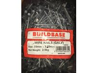 2.5 KG WIRE GALV NAILS (5KG for £15)