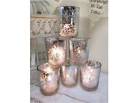 Gold votive candle holders / vases