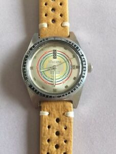 Vintage diver decompression dial watch/montre Lo Herma