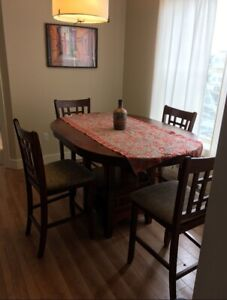 Bar Style Wood Dining Table
