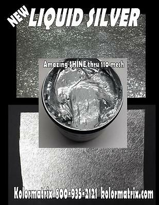Liquid Silver Metallic Premium Plastisol Screenprint Ink - Non Phthalate Pint