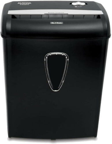 Aurora AS890C 8-Sheet Cross-Cut Paper/Credit Card Shredder with Basket New Free