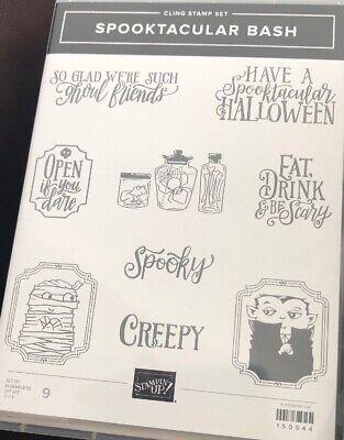 Stampin Up Halloween Stamp Sets (Stampin Up Rubber Stamp Set SPOOKTACULAR BASH -)
