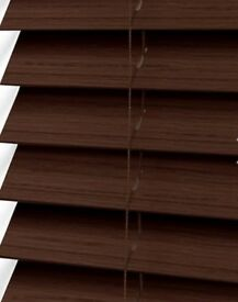NEW Dark Faux Wood Blinds 1000W 1400H