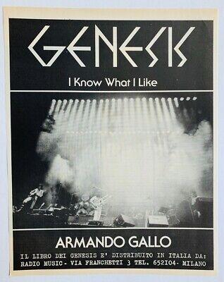 GENESIS 1980 vintage ITALIAN POSTER ADVERT I KNOW WHAT I LIKE Armando Gallo