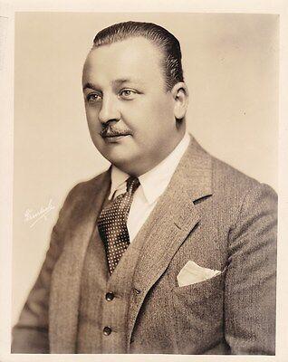BERT ROACH Original Vintage 1920s Universal Silent Comedy DBW Portrait Photo
