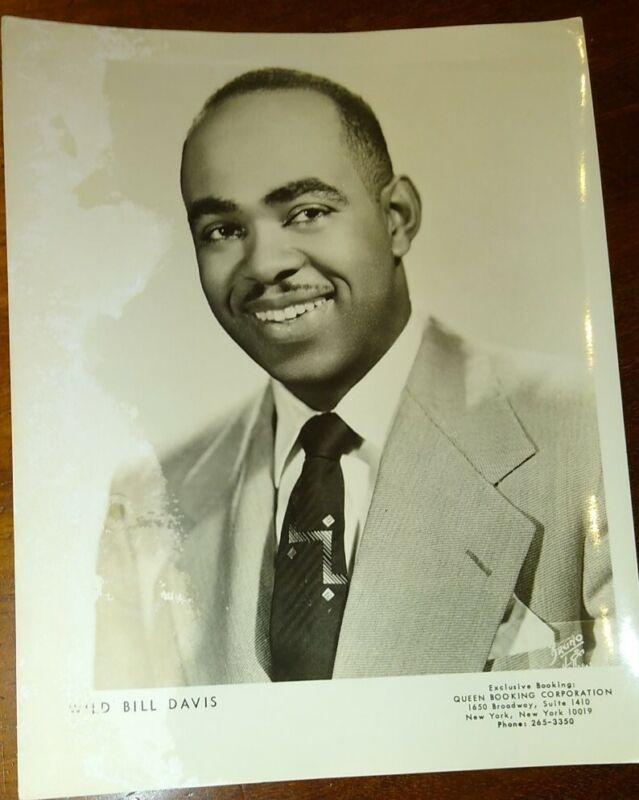 Jazz Pianist Wild Bill Davis Original 1950
