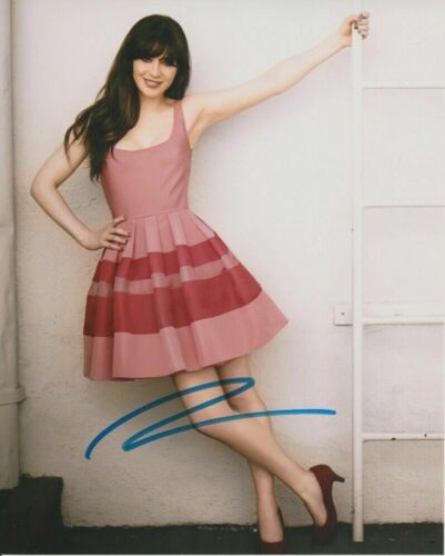 Zooey Deschanel Autographed 8 x 10 Glossy Photo Reproduction